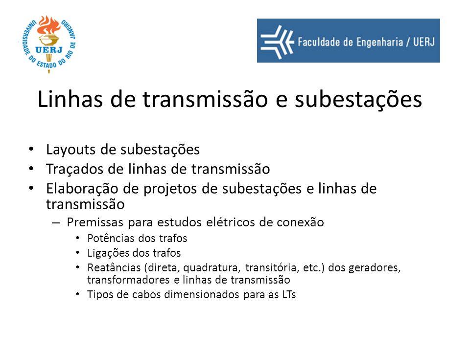 Linhas de transmissão e subestações