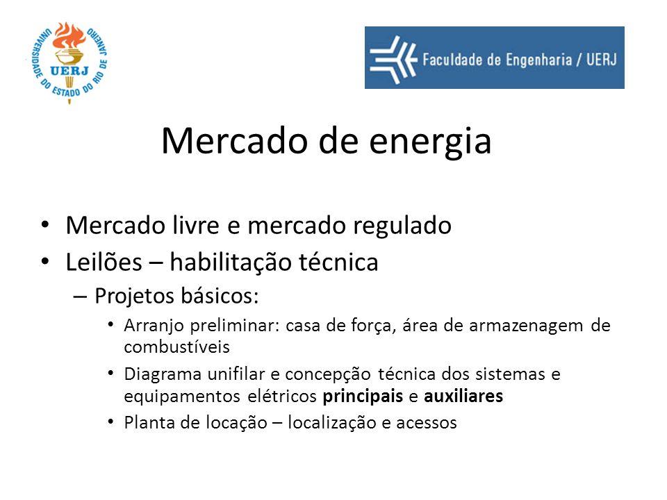 Mercado de energia Mercado livre e mercado regulado