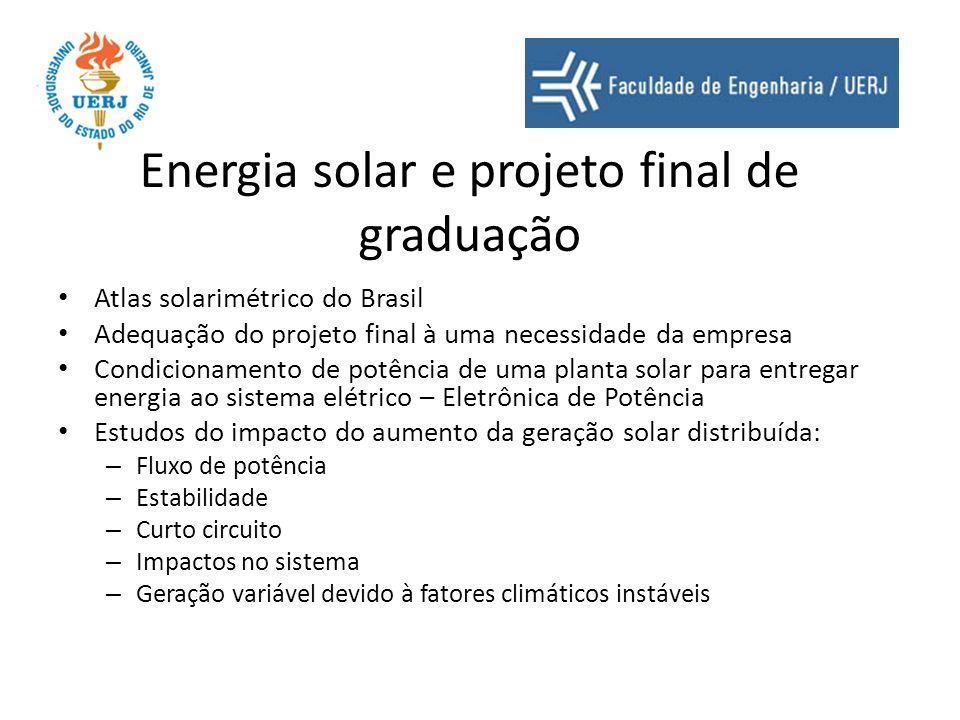 Energia solar e projeto final de graduação