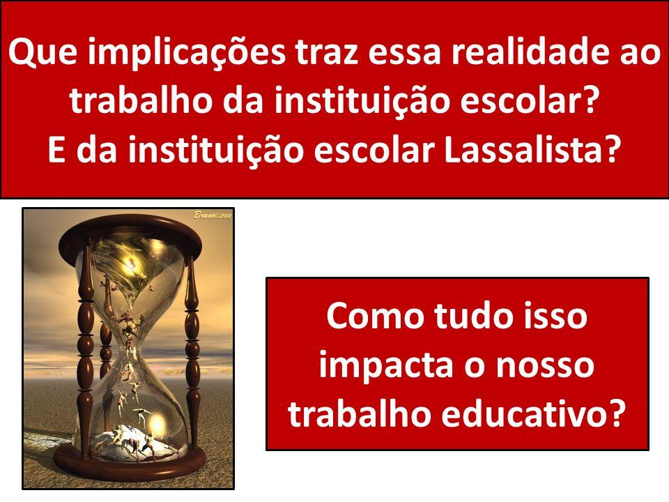 E da instituição escolar Lassalista