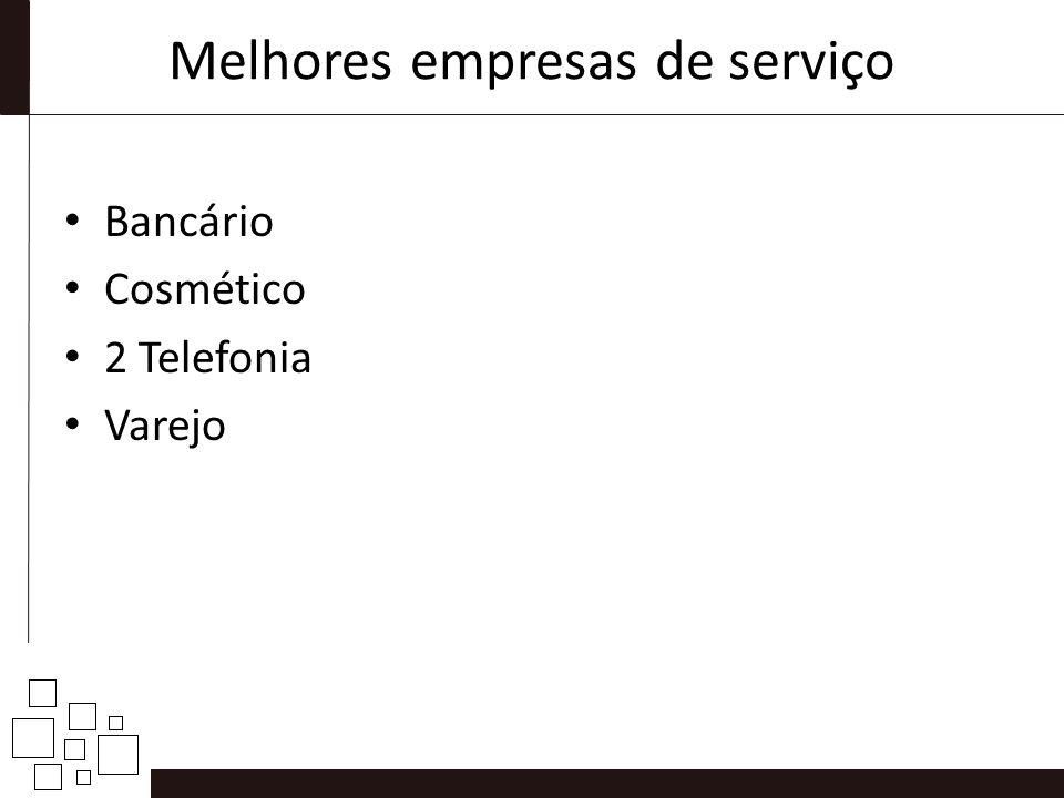 Melhores empresas de serviço