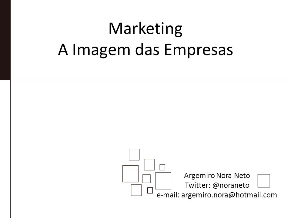 Marketing A Imagem das Empresas