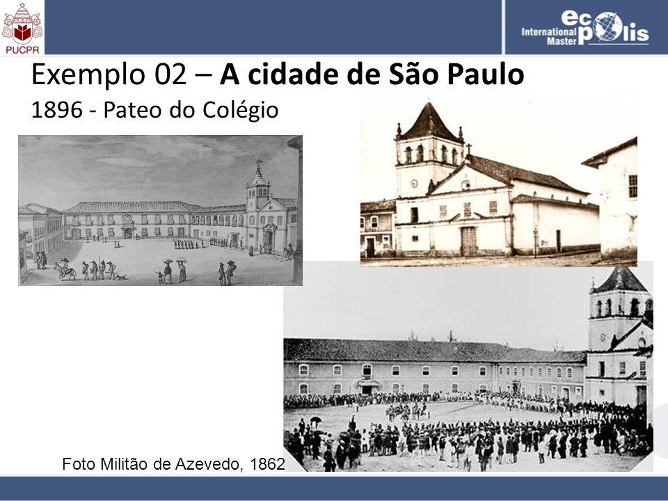 Exemplo 02 – A cidade de São Paulo 1896 - Pateo do Colégio