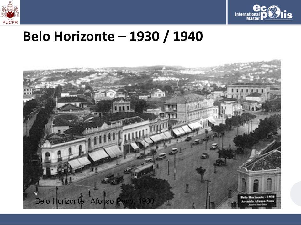 Belo Horizonte – 1930 / 1940 Belo Horizonte - Afonso Pena, 1930