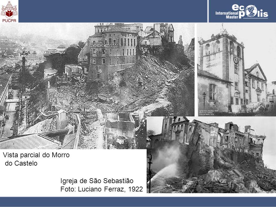 Vista parcial do Morro do Castelo Igreja de São Sebastião Foto: Luciano Ferraz, 1922
