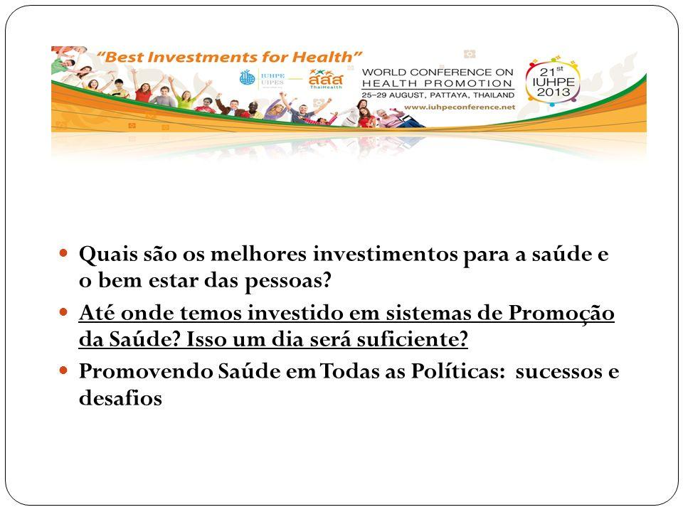 Quais são os melhores investimentos para a saúde e o bem estar das pessoas
