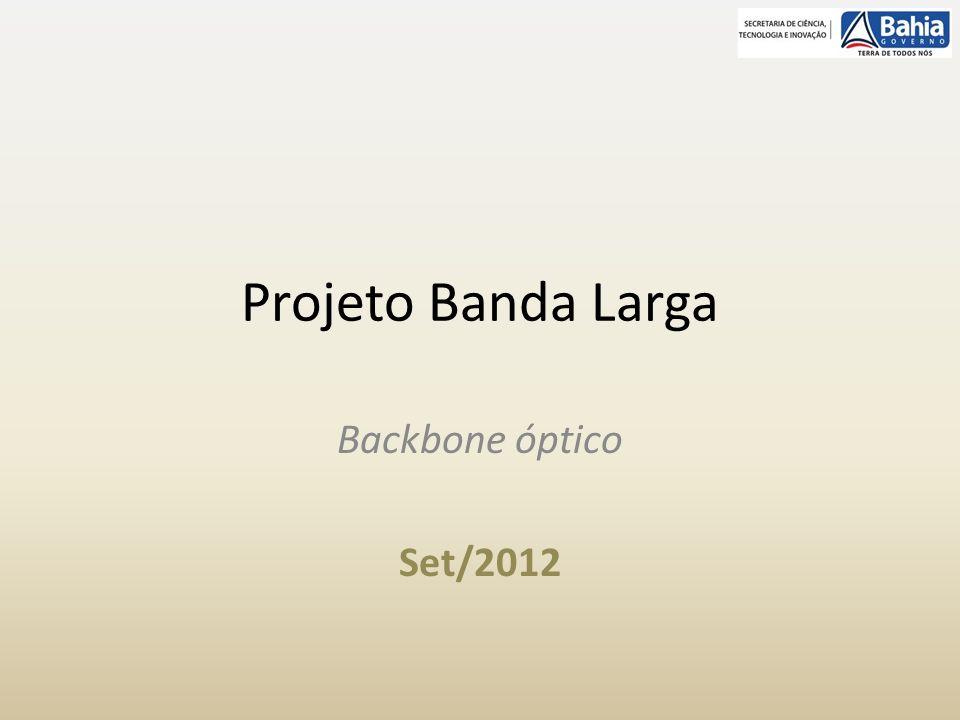 Projeto Banda Larga Backbone óptico Set/2012