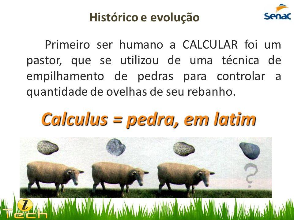 Calculus = pedra, em latim