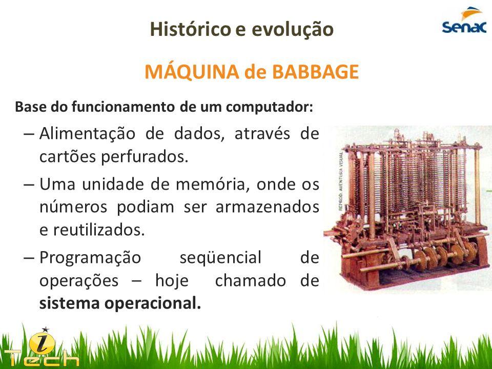 Histórico e evolução MÁQUINA de BABBAGE