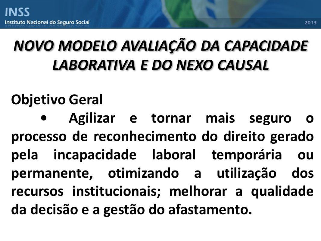 NOVO MODELO AVALIAÇÃO DA CAPACIDADE LABORATIVA E DO NEXO CAUSAL