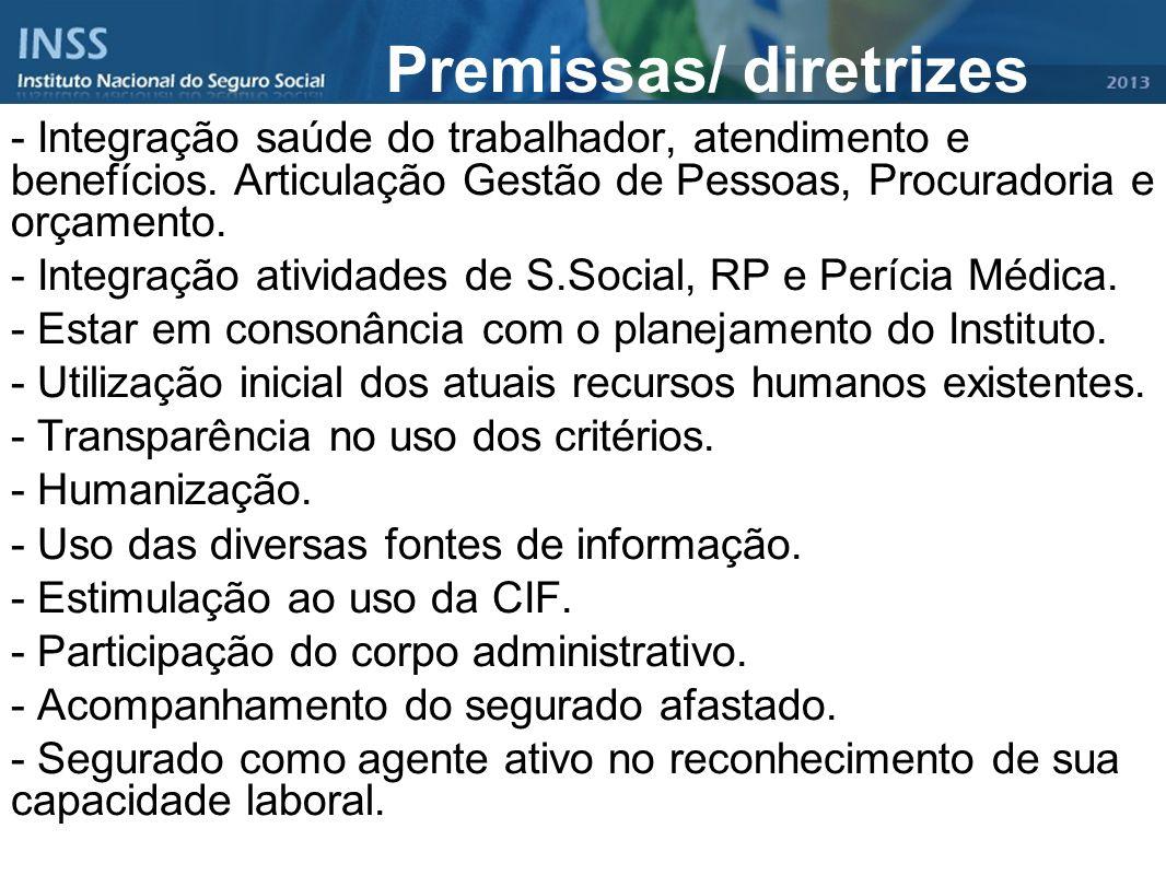Premissas/ diretrizes