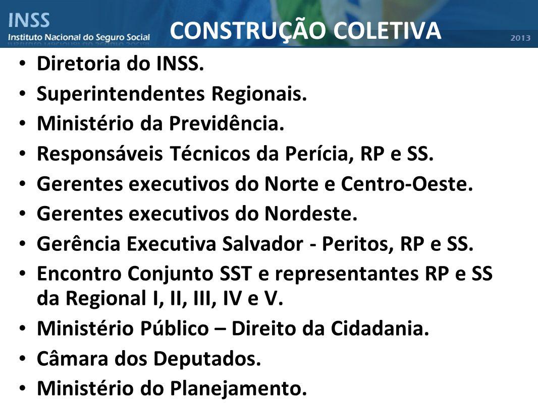 CONSTRUÇÃO COLETIVA Diretoria do INSS. Superintendentes Regionais.