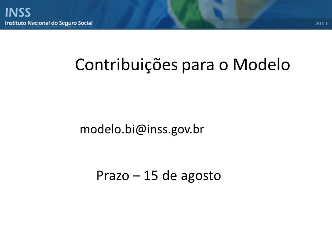 Contribuições para o Modelo