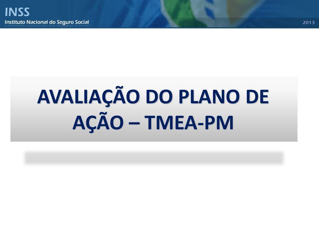 AVALIAÇÃO DO PLANO DE AÇÃO – TMEA-PM