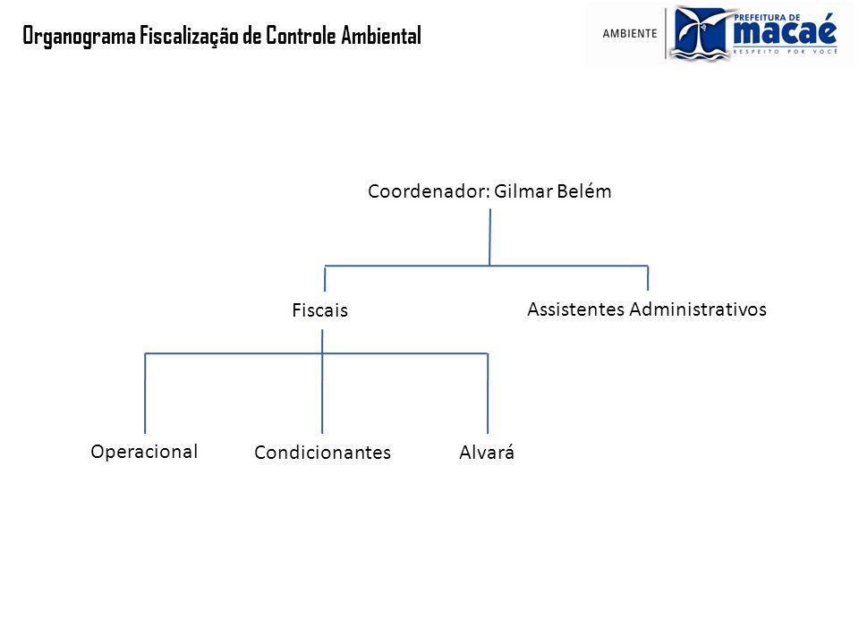 Organograma Fiscalização de Controle Ambiental