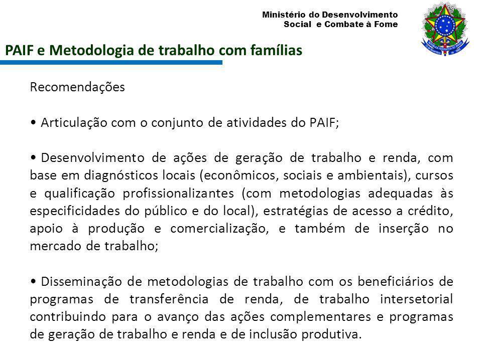PAIF e Metodologia de trabalho com famílias