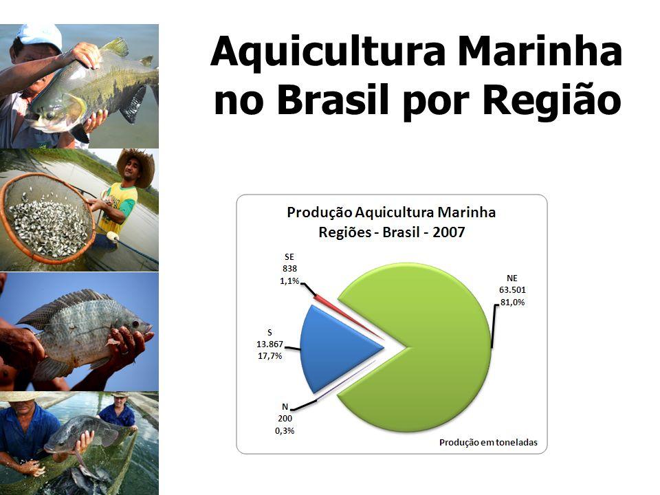 Aquicultura Marinha no Brasil por Região