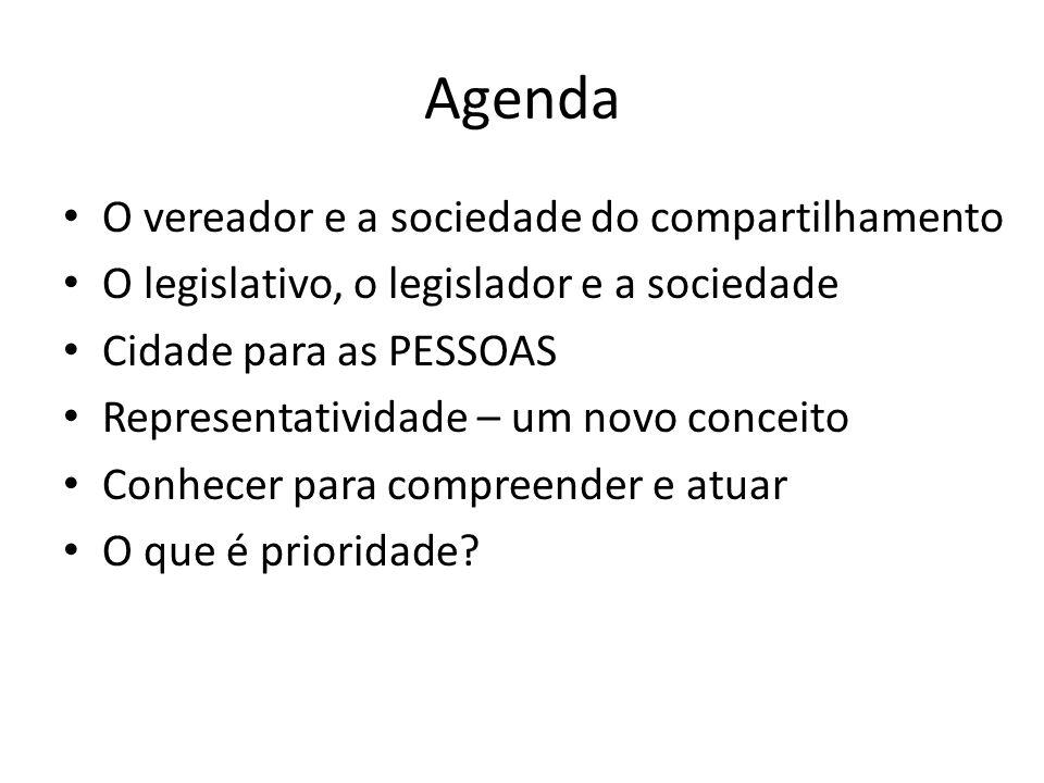 Agenda O vereador e a sociedade do compartilhamento