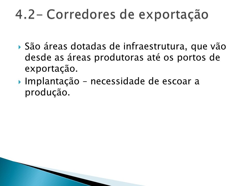 4.2- Corredores de exportação