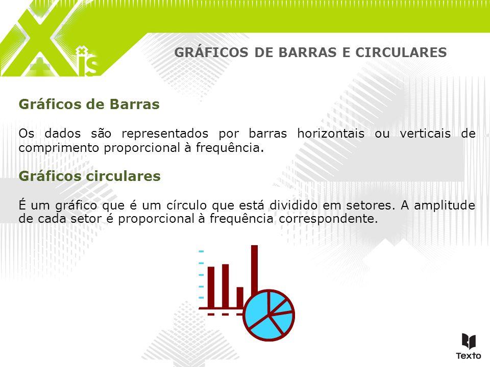 GRÁFICOS DE BARRAS E CIRCULARES