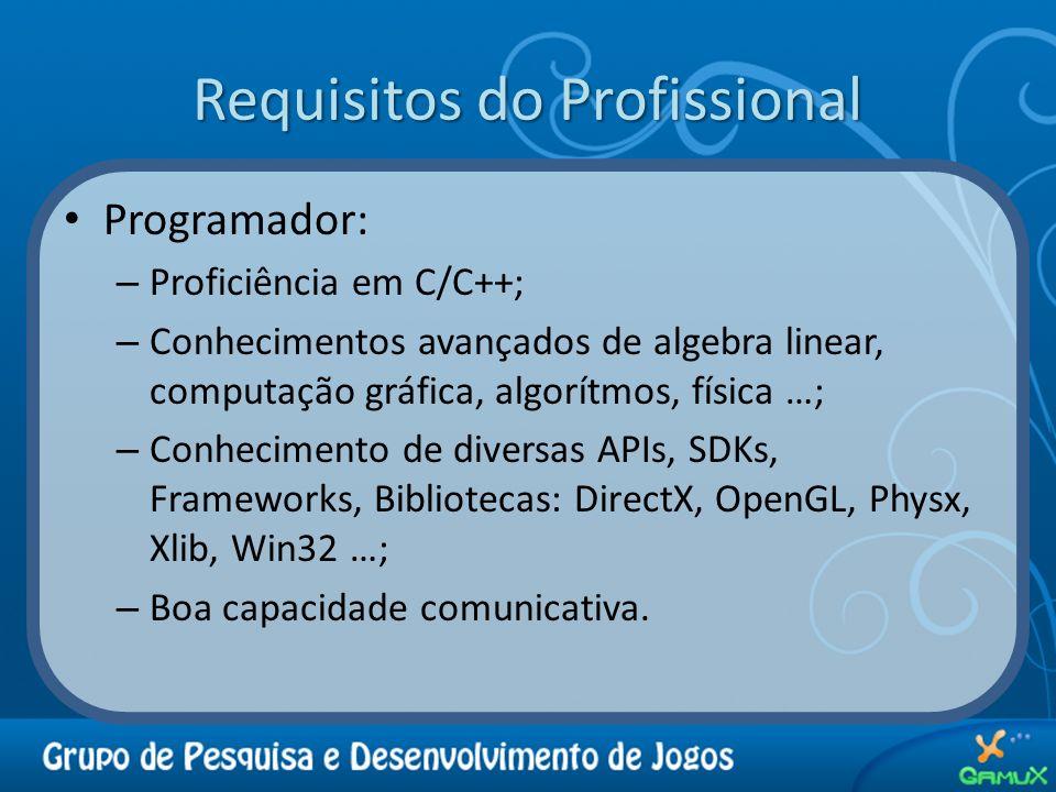 Requisitos do Profissional