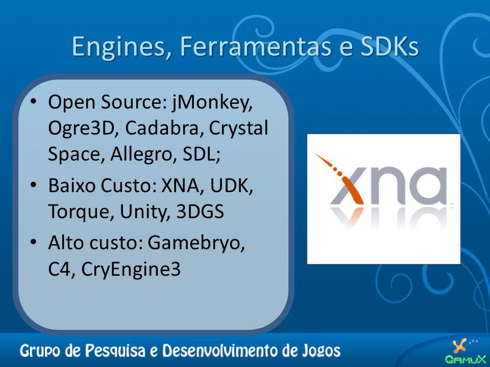 Engines, Ferramentas e SDKs