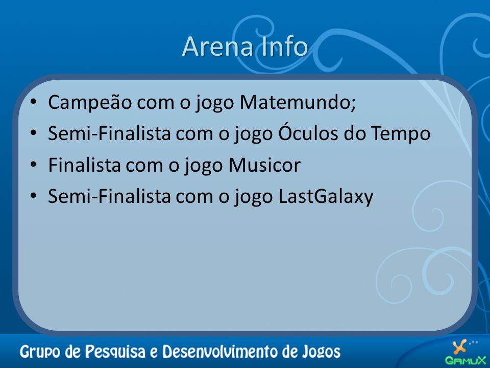 Arena Info Campeão com o jogo Matemundo;