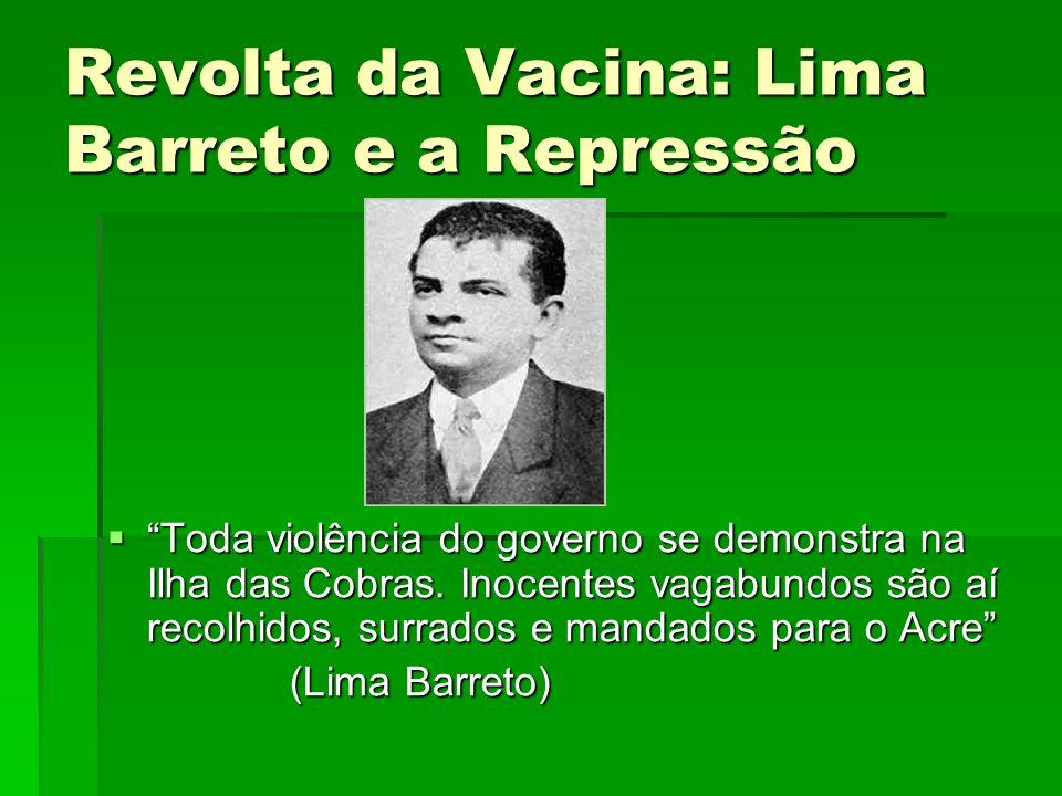 Revolta da Vacina: Lima Barreto e a Repressão