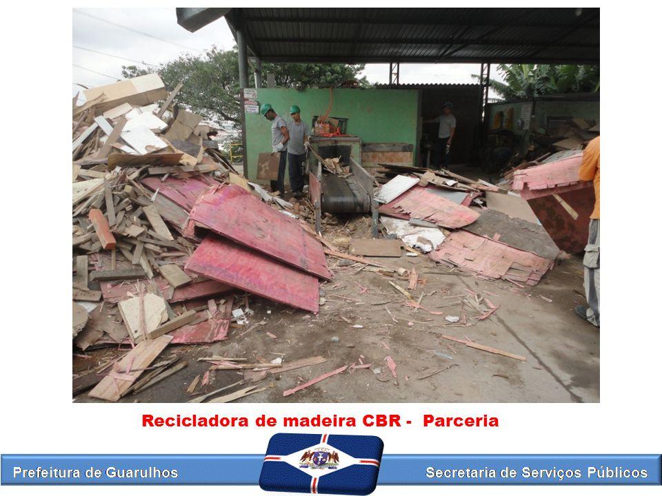 Recicladora de madeira CBR - Parceria