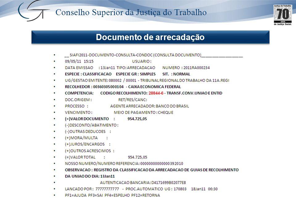 Documento de arrecadação