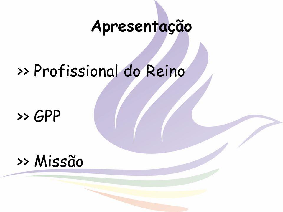 Apresentação >> Profissional do Reino >> GPP >> Missão