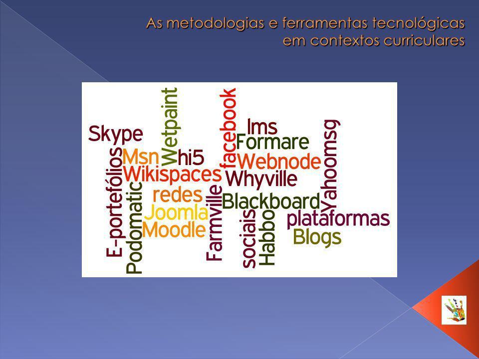 As metodologias e ferramentas tecnológicas em contextos curriculares
