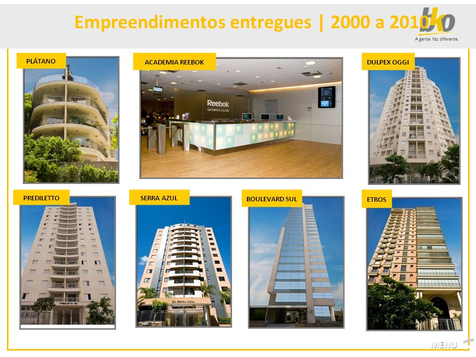 Empreendimentos entregues | 2000 a 2010