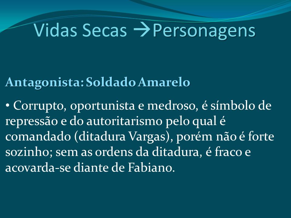 Vidas Secas Personagens