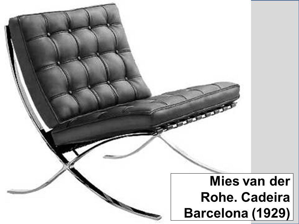 Mies van der Rohe. Cadeira Barcelona (1929)