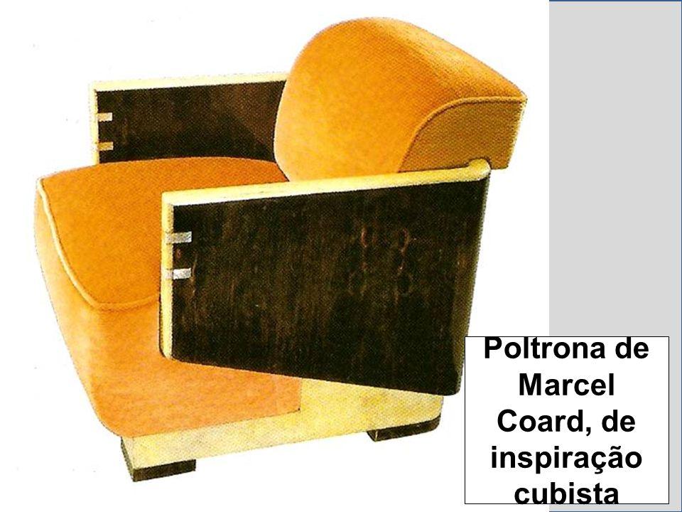 Poltrona de Marcel Coard, de inspiração cubista