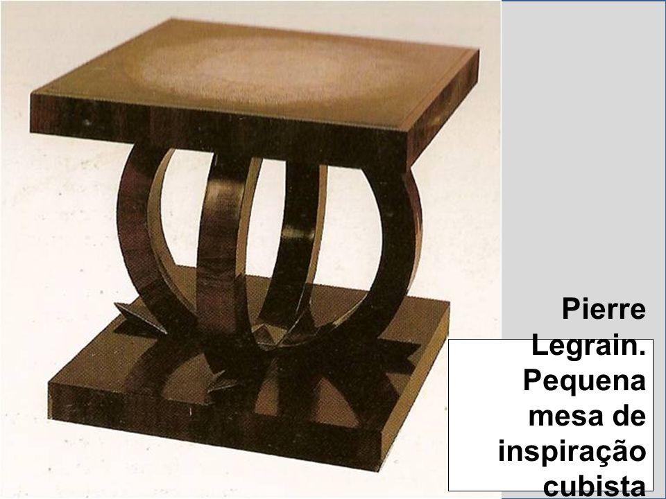 Pierre Legrain. Pequena mesa de inspiração cubista (1923).