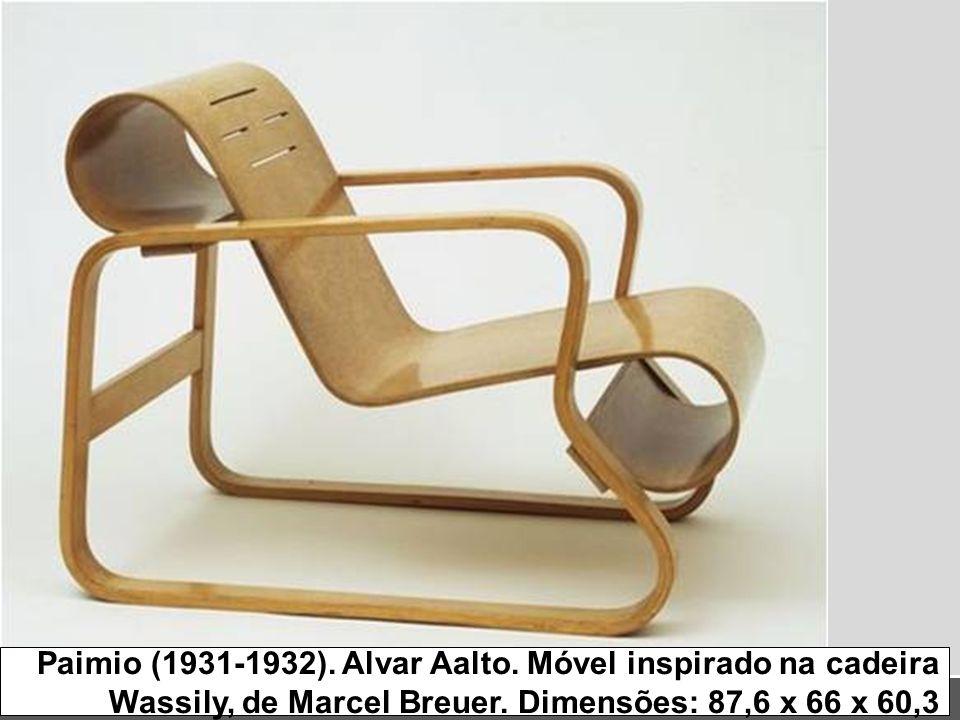 Paimio (1931-1932). Alvar Aalto. Móvel inspirado na cadeira Wassily, de Marcel Breuer.