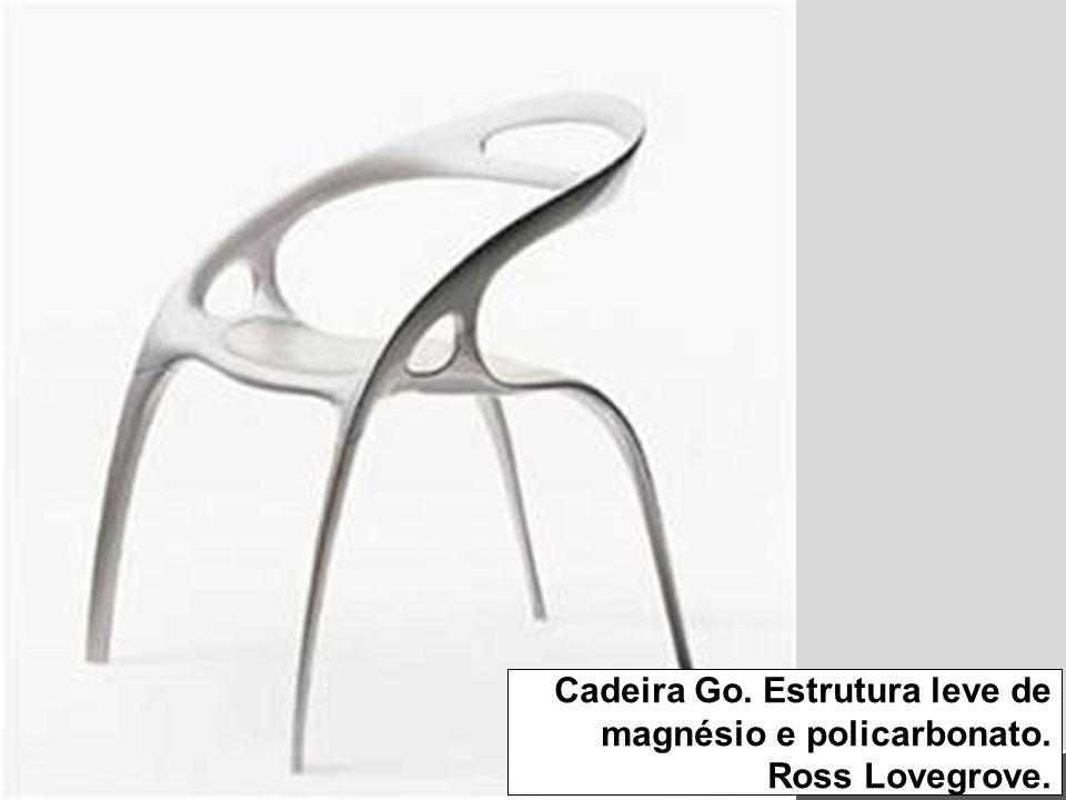 Cadeira Go. Estrutura leve de magnésio e policarbonato. Ross Lovegrove.