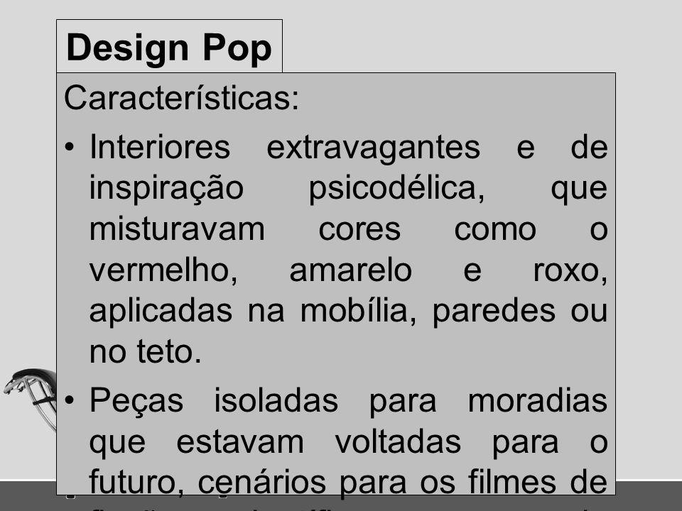 Design Pop Características: