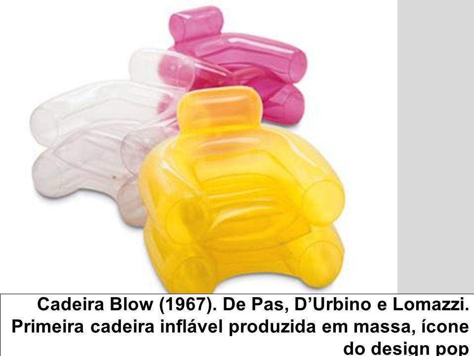 Cadeira Blow (1967). De Pas, D'Urbino e Lomazzi