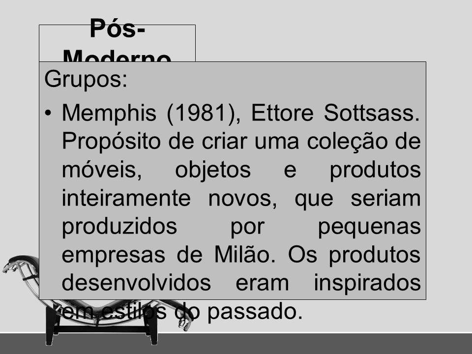 Pós-Moderno Grupos: