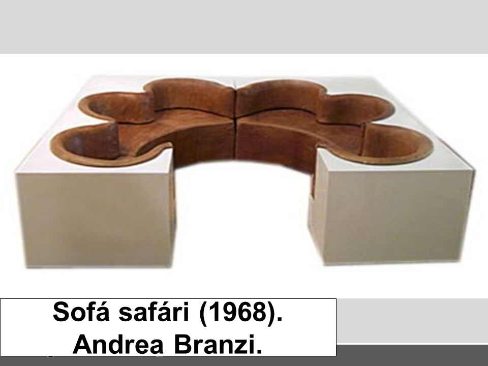 Sofá safári (1968). Andrea Branzi.