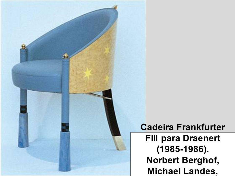 Cadeira Frankfurter FIII para Draenert (1985-1986)