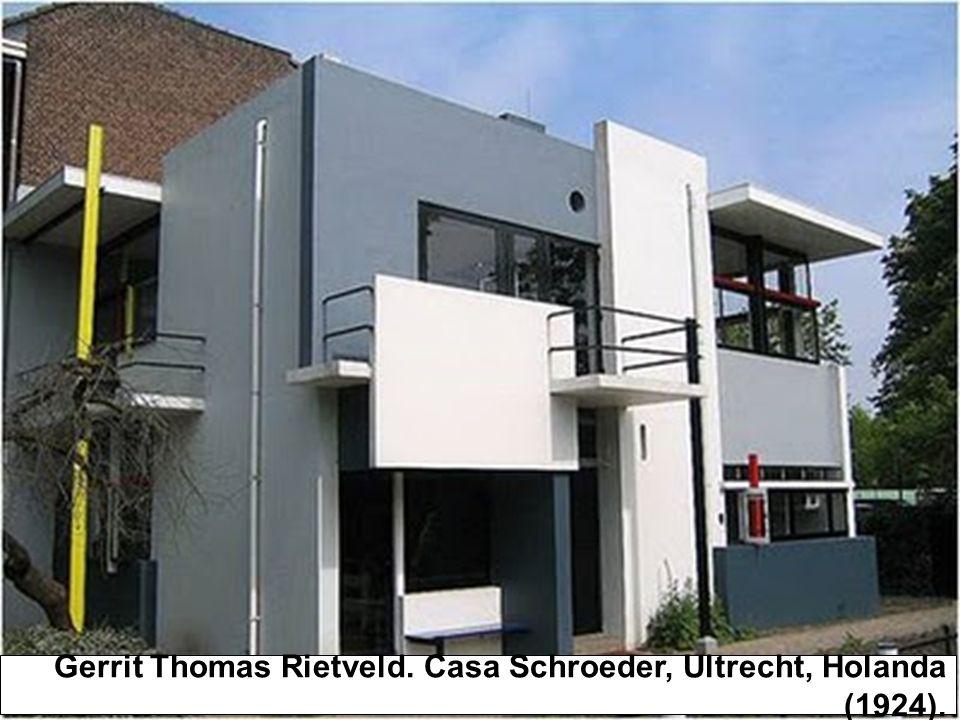 Gerrit Thomas Rietveld. Casa Schroeder, Ultrecht, Holanda (1924).