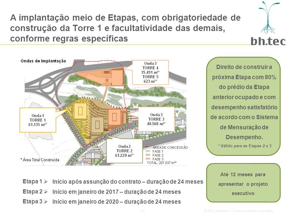 A implantação meio de Etapas, com obrigatoriedade de construção da Torre 1 e facultatividade das demais, conforme regras específicas