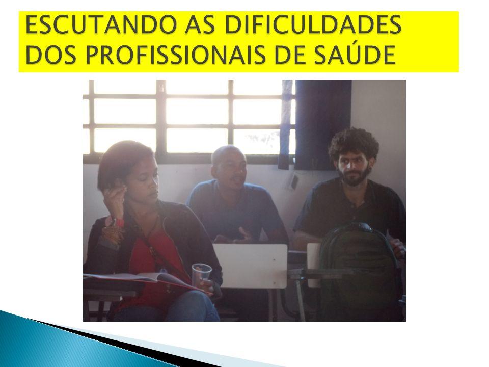 ESCUTANDO AS DIFICULDADES DOS PROFISSIONAIS DE SAÚDE