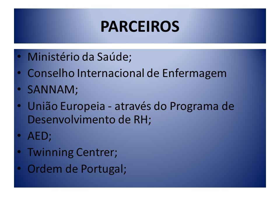 PARCEIROS Ministério da Saúde; Conselho Internacional de Enfermagem