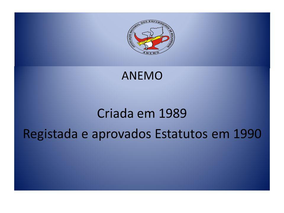 Registada e aprovados Estatutos em 1990