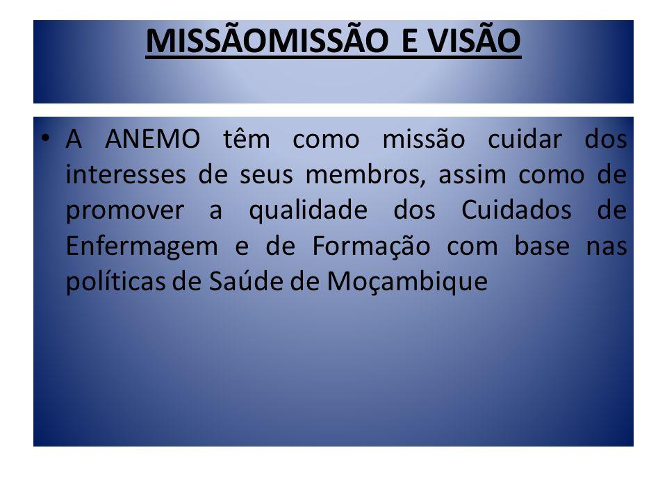 MISSÃOMISSÃO E VISÃO